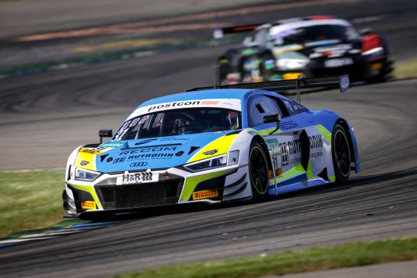 Defending champions van der Linde and Niederhauser set best time in ADAC GT Masters opening session at Hockenheim