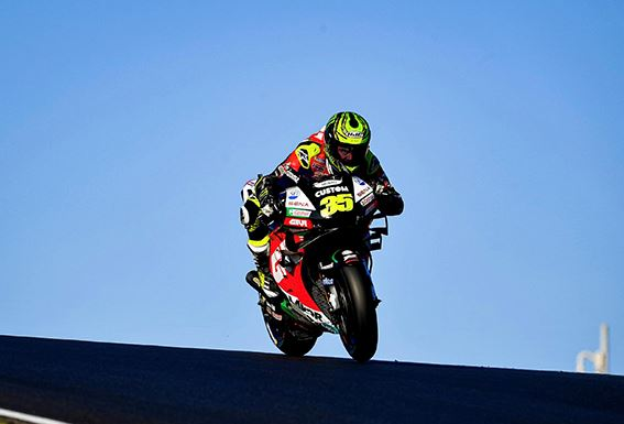 Cal Crutchlow claims second row start in Portimao