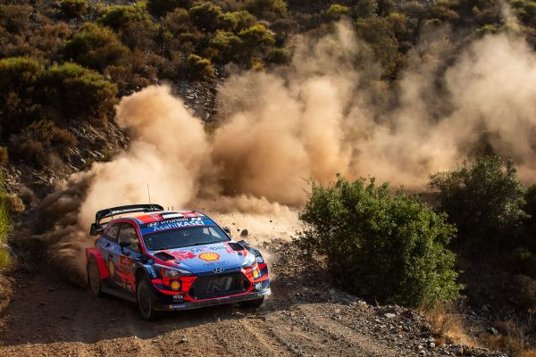 Hyundai Motorsport holds a provisional 1-2 after the opening two stages of Rally Turkey