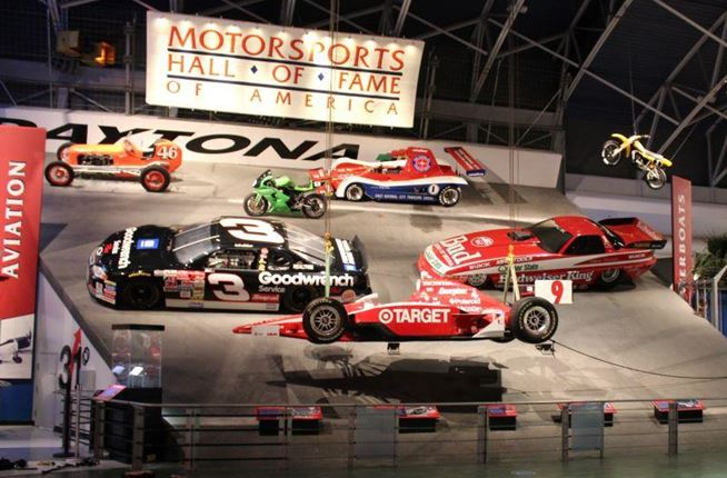 "New Vehicles Added to Motorsports Hall of Fame of America's 40-Foot Tall ""Sweep of Speed"" Exhibit at Daytona"
