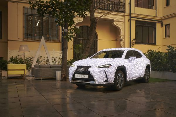 "Lexus Spain unveils the UX Art Car 2021 ""Zen Garden"" by Clap Studio Valencia"