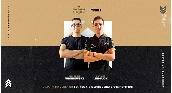 DS Techeetah welcomes Arthur Lehouck and Nikodem Wisniewski as eSport drivers