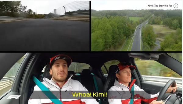 Video Raikkonen Scares Giovinazzi On Nordschleife's 'Green Hell'