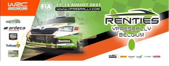 Renties Ypres Rally Belgium from 13 to 15 August 2021