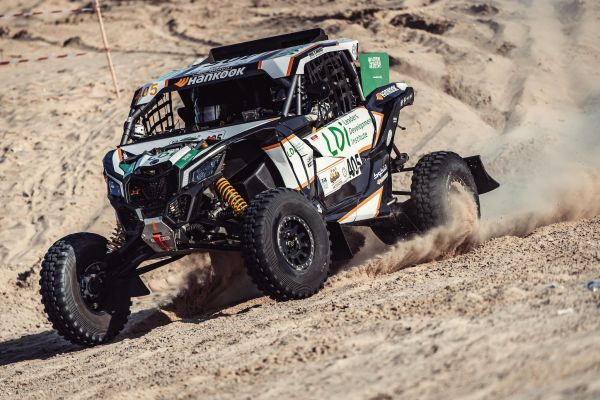 South Racing Can-Am Team's Al-Mouri, Al-Thefiri and fournier seal second,third and fourth places in T4 at Sharqiyah Baja