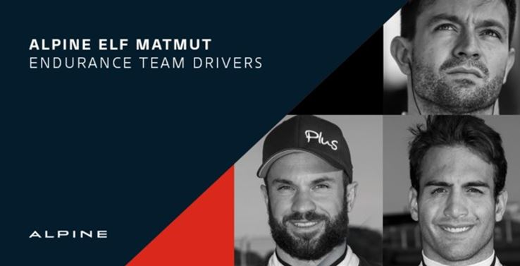 Alpine Elf Matmut Team announces drivers for FIA WEC World Championship