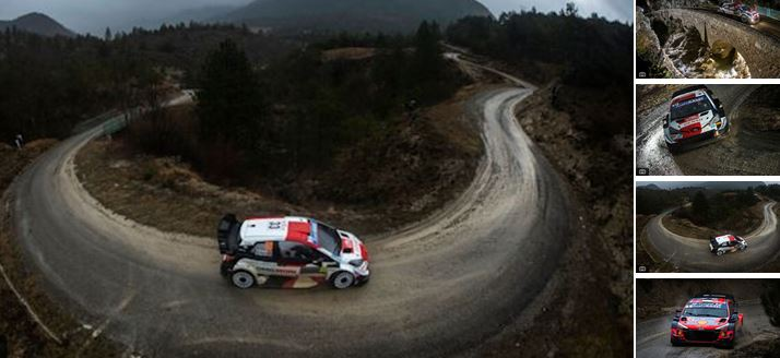 Leader Evans under attack from Rallye Monte-Carlo master Ogier