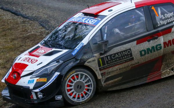 TOYOTA GAZOO Racing first and second after a demanding day in Monte-Carlo Rallye