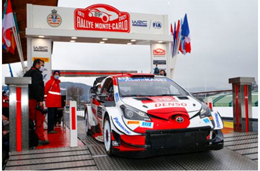 Rovanperä second in the Toyota Yaris WRC after 2021's first stages