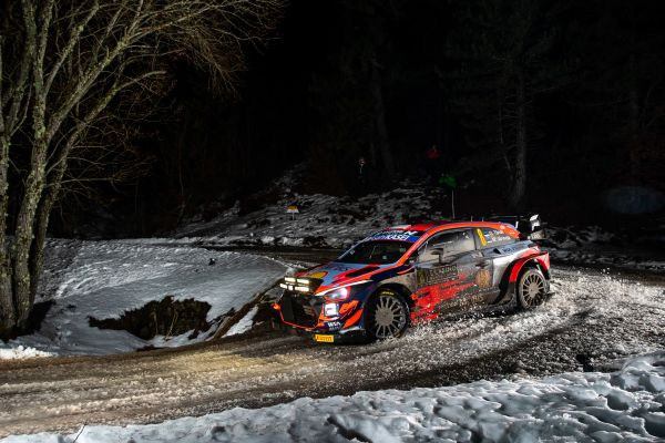 Hyundai Motorsport has ended the second day of Rallye Monte-Carlo