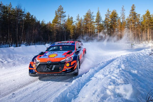 Hyundai Motorsport has extended its lead of Arctic Rally Finland