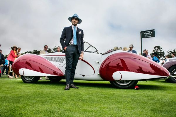 The Outlierman renewed its exclusive style partnership with Pebble Beach Concours d'Elegance