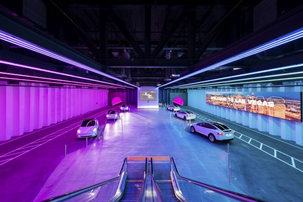 First Look Inside Elon Musk's Underground Transportation System Beneath the Las Vegas Convention Center