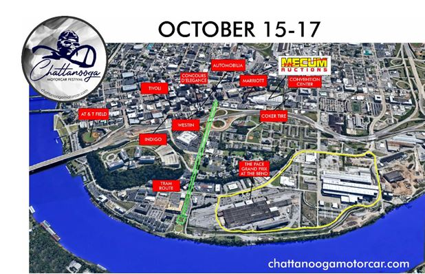 New Race Track Announced in Heart of City as Part of 2021 Chattanooga Motorcar Festival