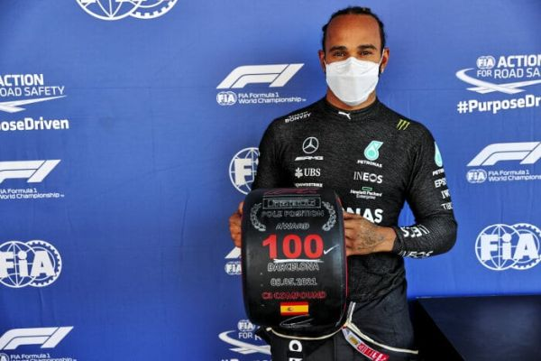 Lewis takes sensational 100th career pole position with Valtteri in P3 at the Circuit de Barcelona Catalunya