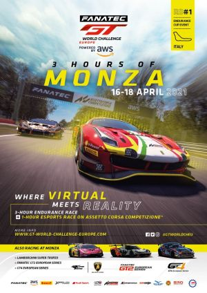 Monza timetable for Fanatec GT World Challenge by AWS Endurance Cup