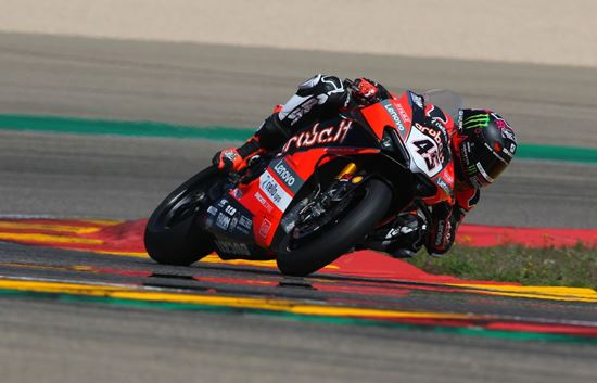 Redding powers to the top on WorldSBK day two test at Aragon as he leads Ducati 1-2