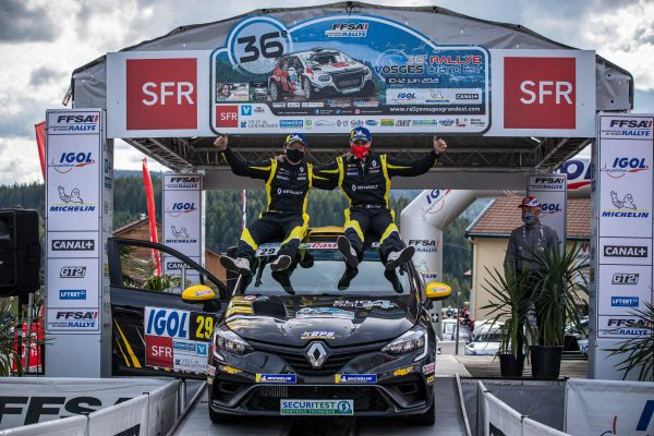 Clio Rally4 already a winner !
