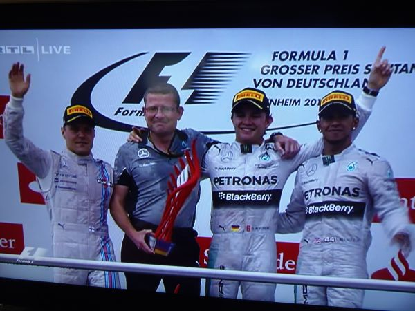 Hockenheim German GP race classification 2014