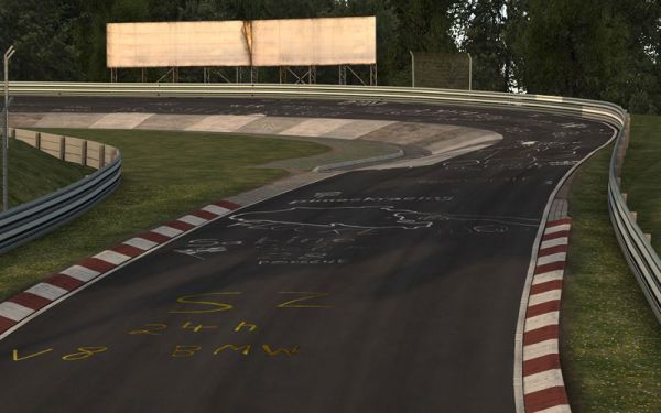 Nürburgring circuit modelled by rFpro to allow representative engineering simulation