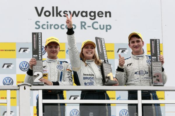 Triumph at the legendary Norisring: Ahlin-Kottulinsky becomes first woman to win in Scirocco R-Cup