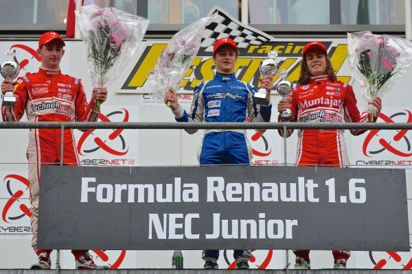Ralf Aron wins the wet second race at Spa