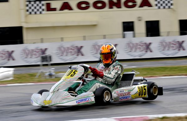 The final sprint of the WSK Event 2015 in Muro Leccese