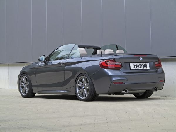 bmw m235i convertible with h r sport springs. Black Bedroom Furniture Sets. Home Design Ideas