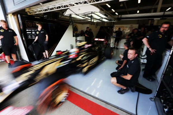 Lotus F1 Team British GP Silverstone practices