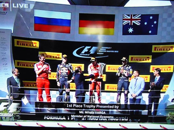 F1 Hungarian Grand Prix race result 2015