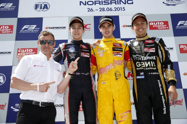 Antonio Giovinazzi scores his third FIA F3 win of the season